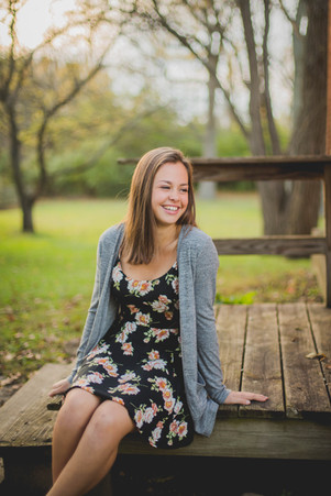 Natural senior session. I love her effortless smile. Taken at Leroy Oaks in St. Charles IL Composed and Exposed Photography #SeniorSession #LeroyOaks #SouthElginPhotographer
