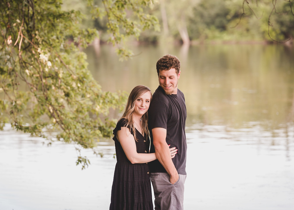 Fox River engagement session, Geneva IL photographer, Composed and Exposed Photography