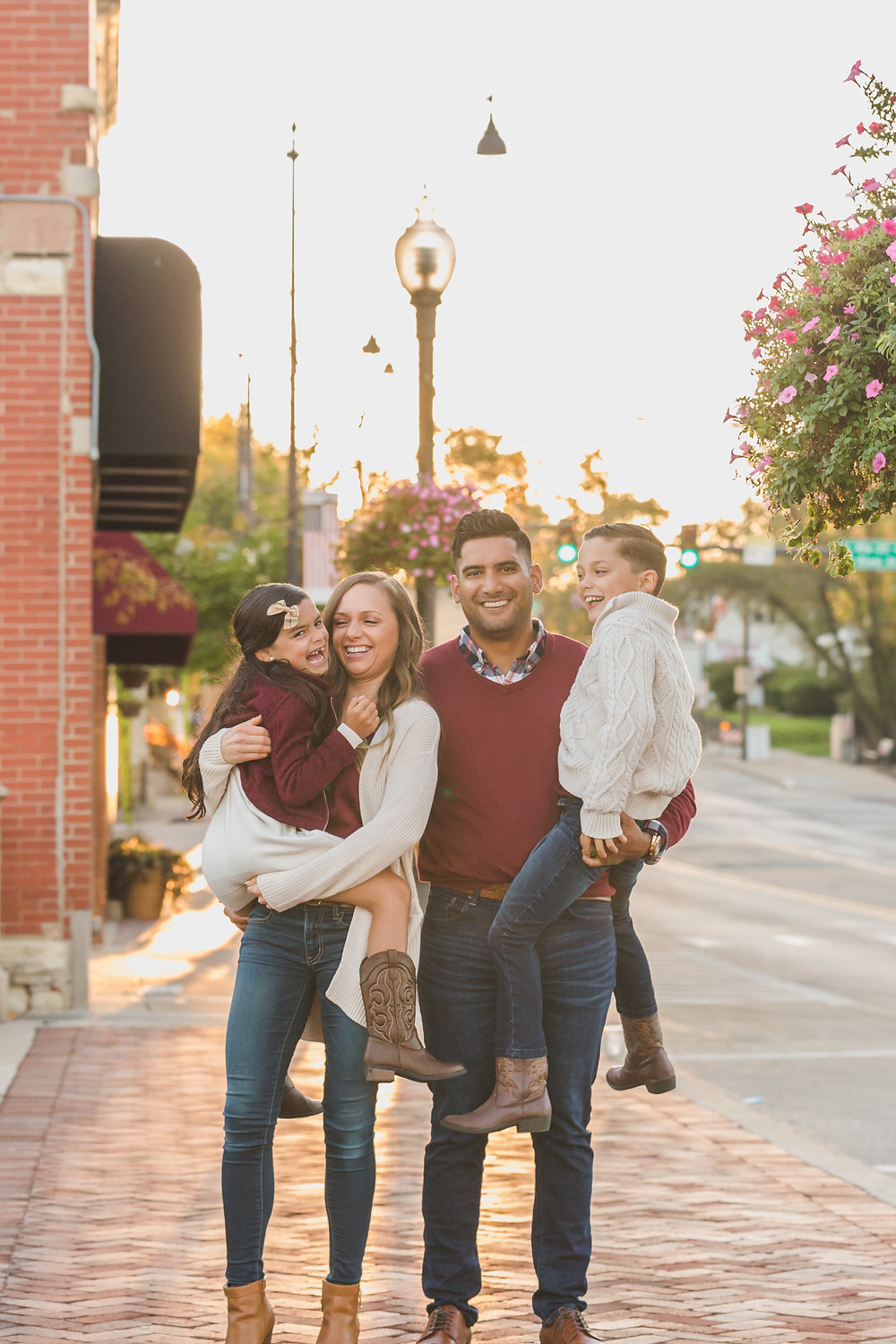 Family session, downtown Batavia IL, Batavia IL photography, professional photographer, Composed and Exposed Photography