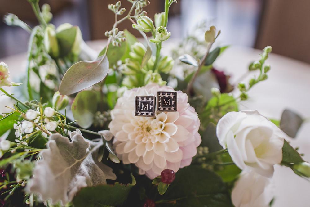 Wedding details cufflinks