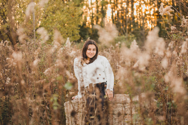 Sunset senior session taken at Leroy Oaks in St. Charles IL. #St.CharlesPhotographer Composed and Exposed Photography