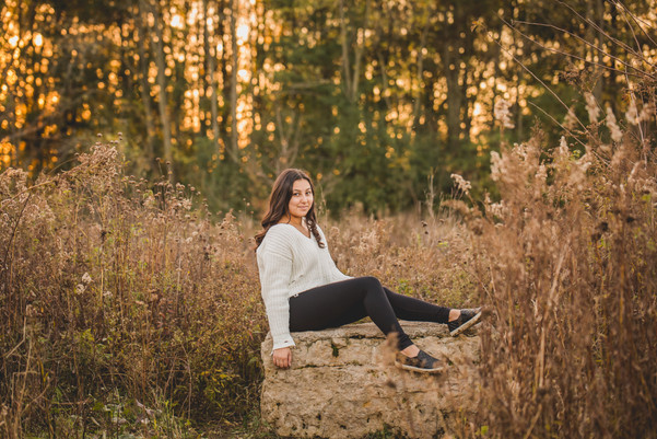 Senior session at sunset taken at Leroy Oaks in St. Charles IL Composed and Exposed Photograph #SeniorSession