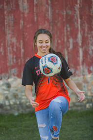 Soccer senior session #SouthElginPhotographer