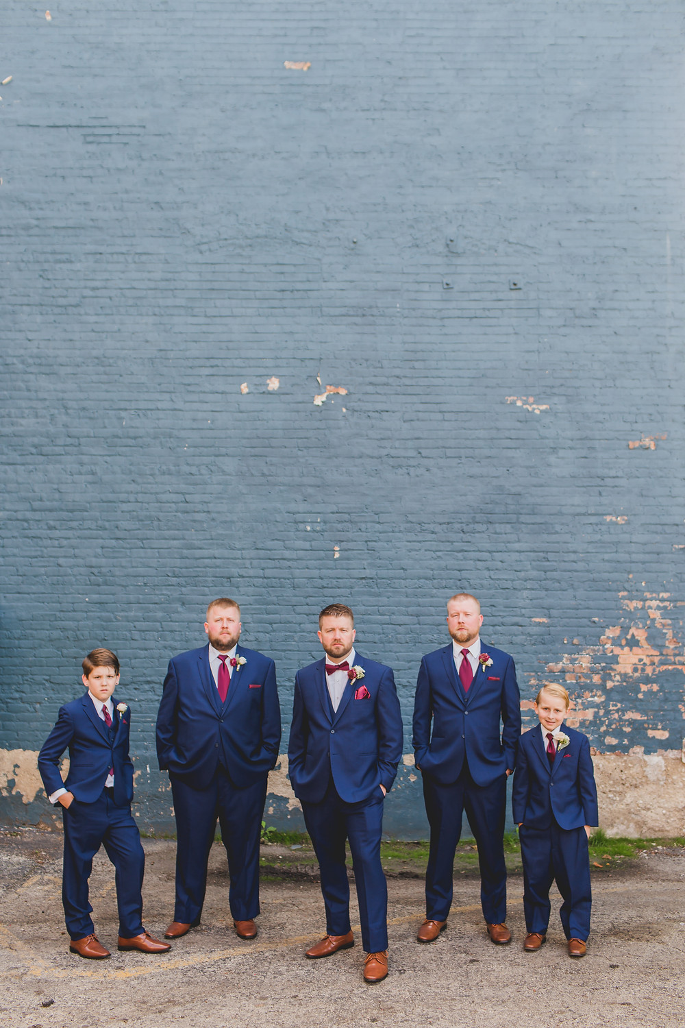 Industrial groomsmen wedding photos