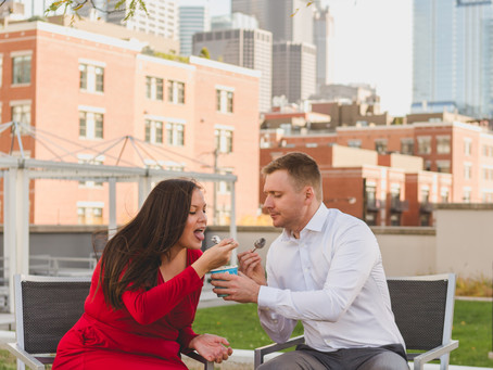 Stephanie and Kevin's Downtown Chicago IL Engagement Session