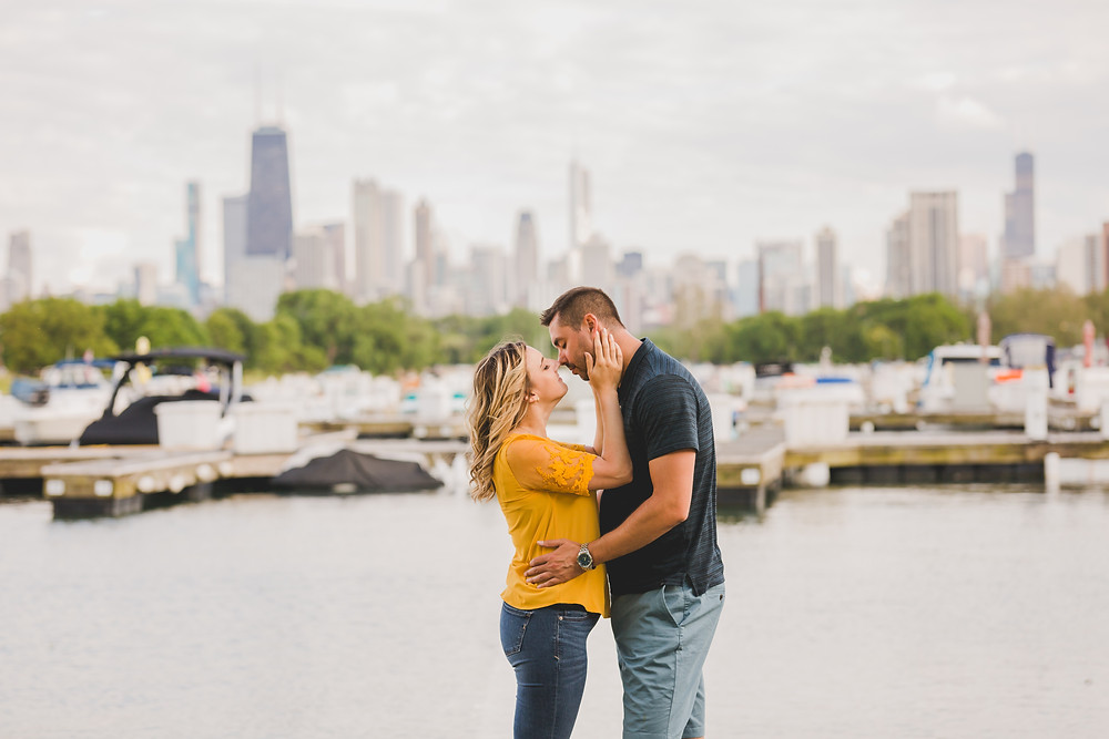 Diversy Harbor, Chicago engagement session, Composed and Exposed Photography