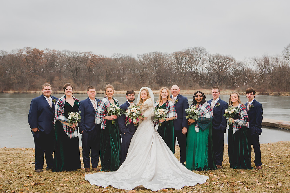 Composed and Exposed Photography, wedding party, winter wedding, wedding photographer located in South Elgin,