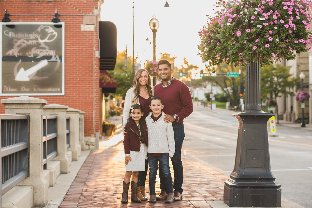 Sunrise session, downtown Batavia, Composed and Exposed Photography, family photographer