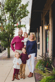 Downtown Geneva family session. Composed and Exposed Photography