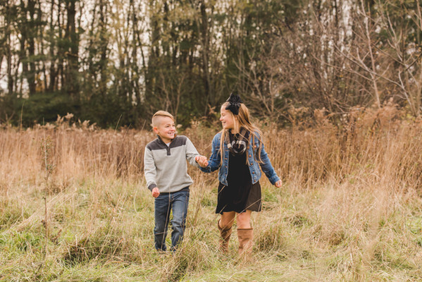 Fall family photos at Leroy Oaks in St. Charles IL. Composed and Exposed Photography