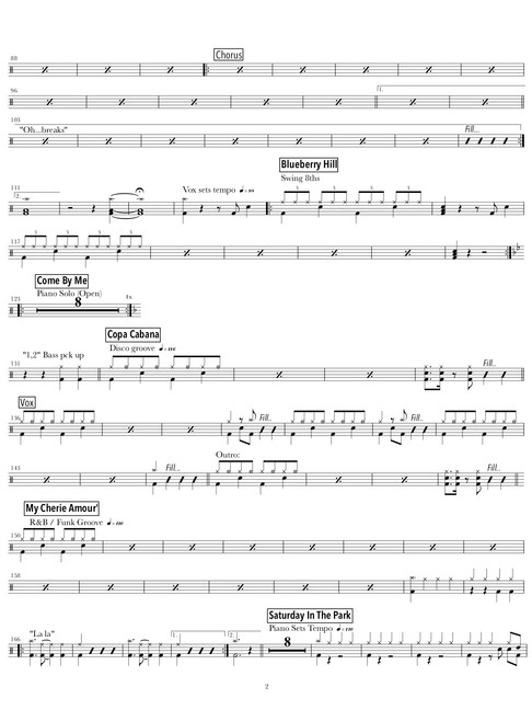2.PIANO PLAYER _ SINGER MEDLEY (drums) (