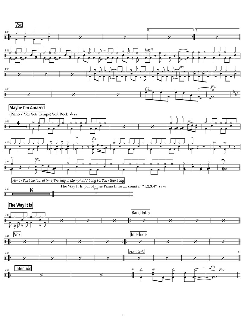 3.PIANO PLAYER _ SINGER MEDLEY (drums) (
