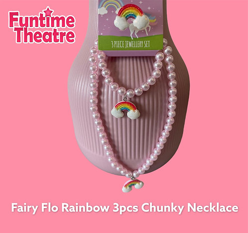 3pc Chunky Necklace set - Rainbow