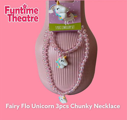 3pc Chunky Necklace set - Unicorn