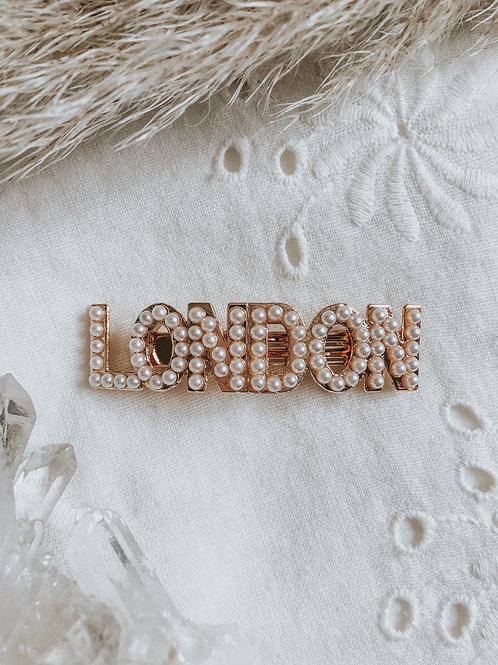 ELIZA LONDON PEARL HAIR BARETTE