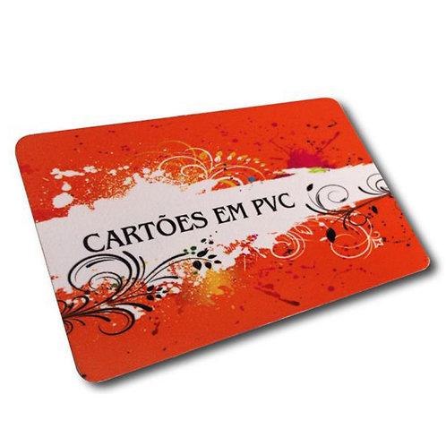 100 Cartões de Visita 54x85mm PVC Branco 0,3mm 4x4 Sem Verniz