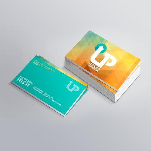 5.000 Cartões de Visita Couchê Brilho 250g 4x4 Verniz Total Brilho F/V