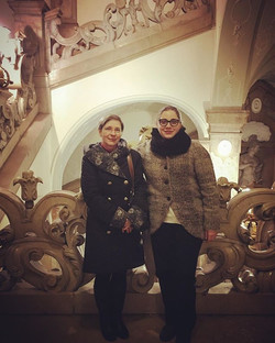 with my mother, Teodora Rusu