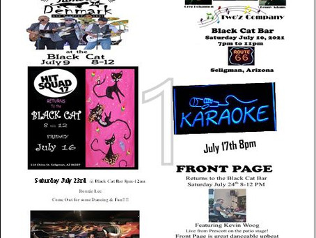 July 2021 Entertainment Band Schedule
