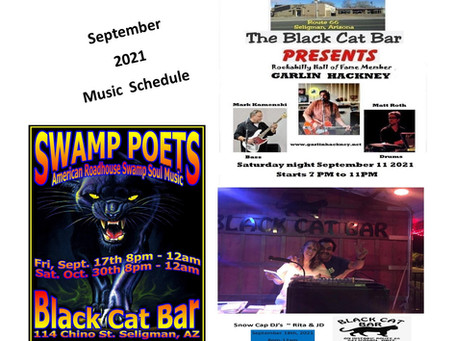 September 2021 Band Schedule & Entertainment
