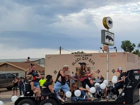 First Prize For The Black Cat's Float At Seligman Days 2021