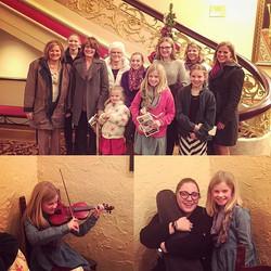 Dinner with Audrey Alt's family