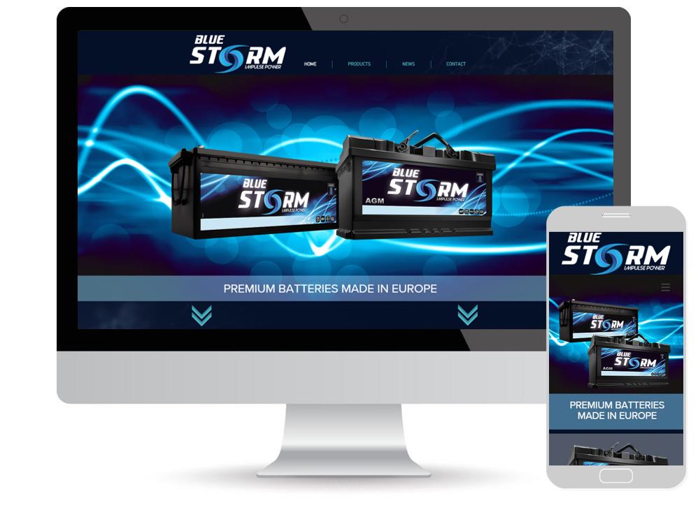 Blue Storm website
