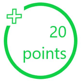20 PiggyBack Points