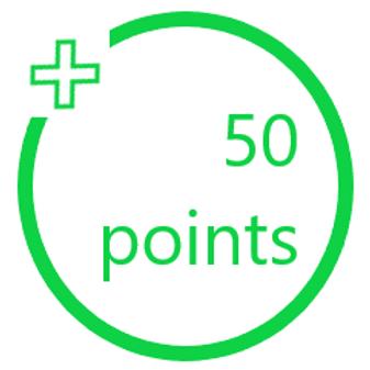 50 PiggyBack Points