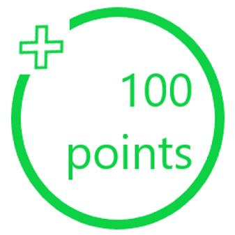 100 PiggyBack Points