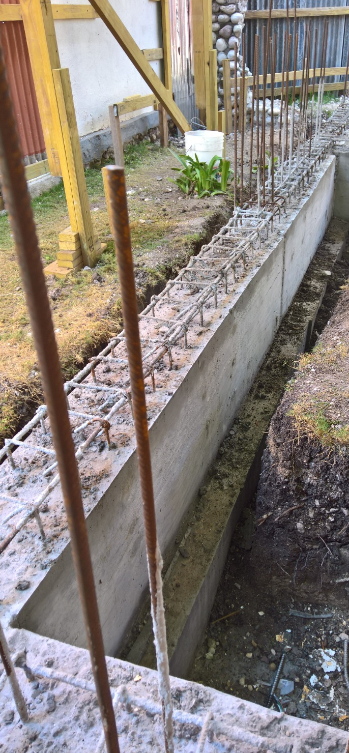 Foundation of new kitchen