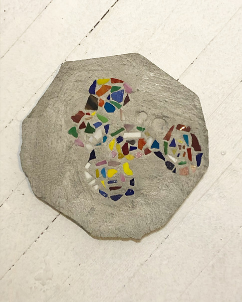 The Wind Calls Out Your Name,concrete stepping stone (sold)