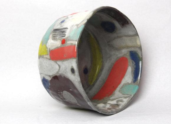 Handbuilt granite clay bowl 2