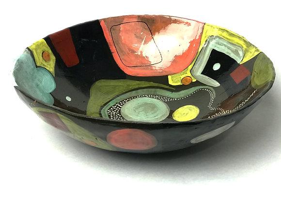 medium hand painted bowl