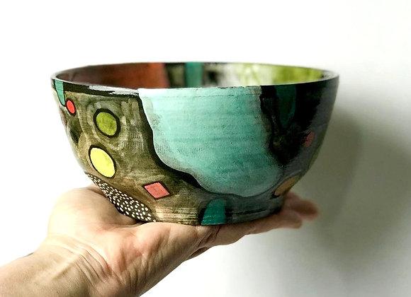 Medium bowl, handpainted