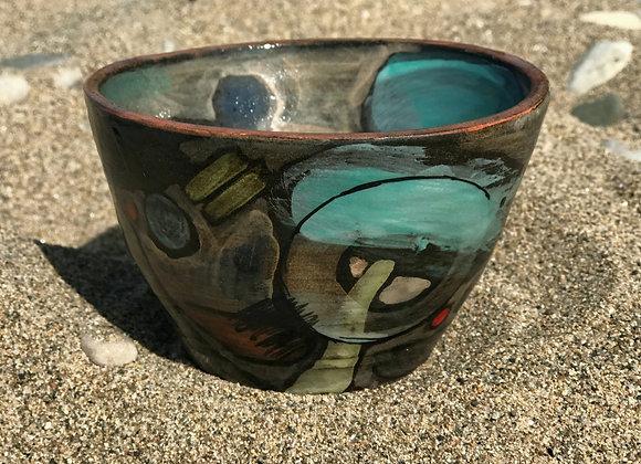 Rust rim small bowl