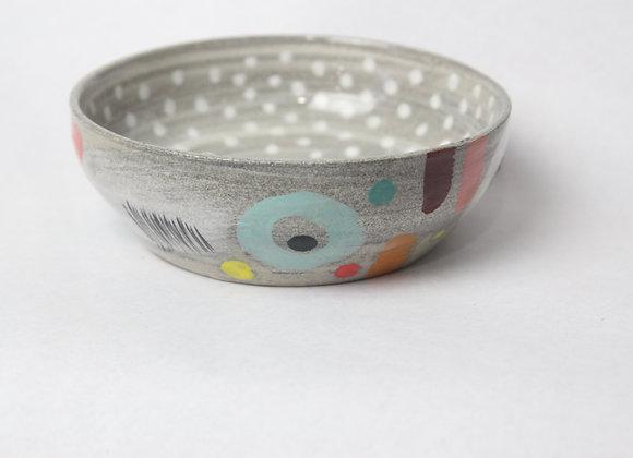Low profile polka dot bowl