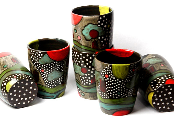 Painted Tumblers (sold in pairs)