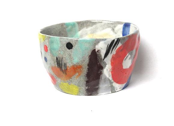 Handbuilt granite clay bowl (small)