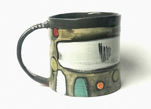 12 ounce Black Clay Mug