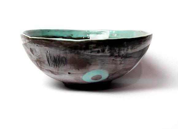 Ramen bowl (unglazed exterior)