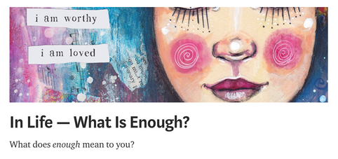 In Life - What Is Enough?
