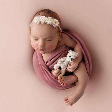 Sesja noworodkowa Stylizowana - Kornelia & Marcelina - 9  dni