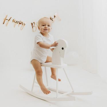 Rodzinna sesja na roczek - WHITE