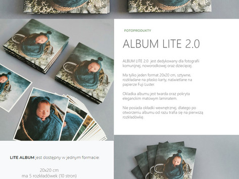 Album LITE 2.0  - Przepiękny maluszek w nowym wydaniu