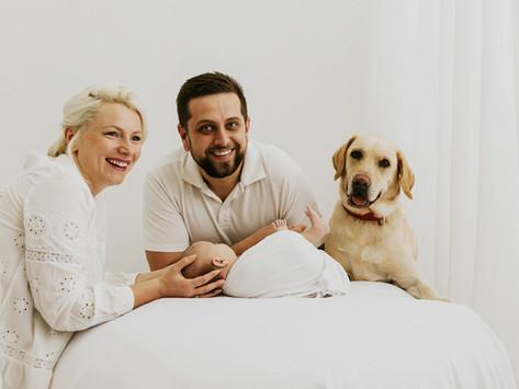 Rodzinna Sesja noworodkowa White- Pola, Milan & Bonio
