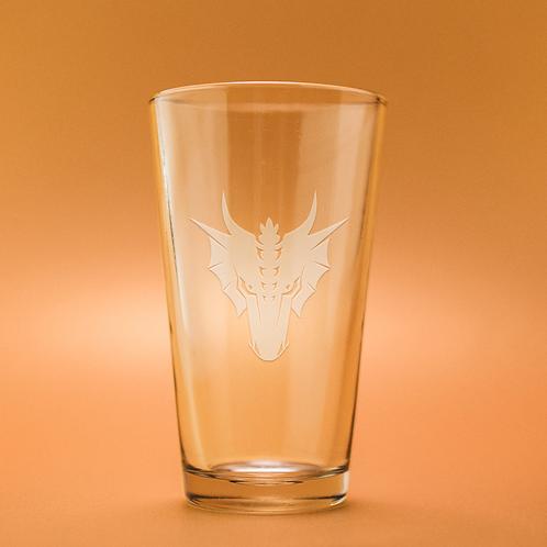 Dragon Head Pint Glass