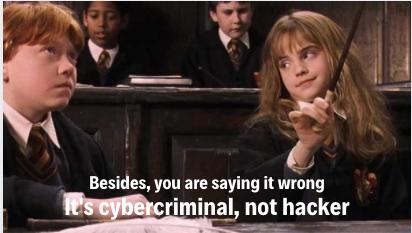 Do you mean cybercriminal?