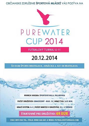 PURE WATER CUP 2014 futbalový turnaj U12