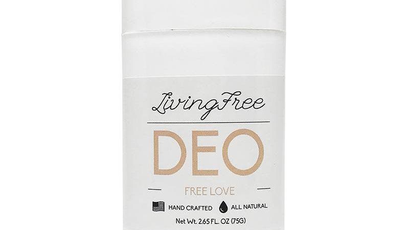 Free Love Deodorant, Cruelty Free, Organic, floral scents